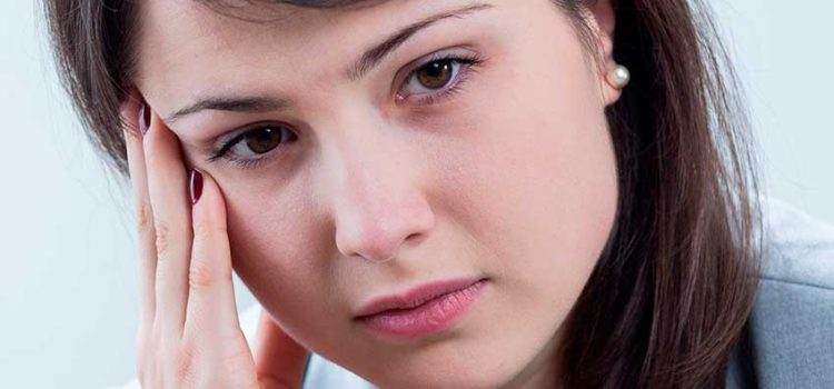 Young woman looking sad or depressed