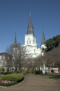 The historic Cathedral of St. Louis.