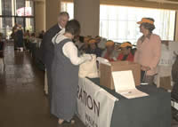 Participants registering in New Orleans