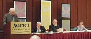 """A panel moderated by CBS Executive Producer  John R. Blessington,  On the panels topic was """"The Local Churches and the Global Church."""""""
