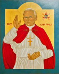 An Orthodoxy-style icon of St. John Paul II