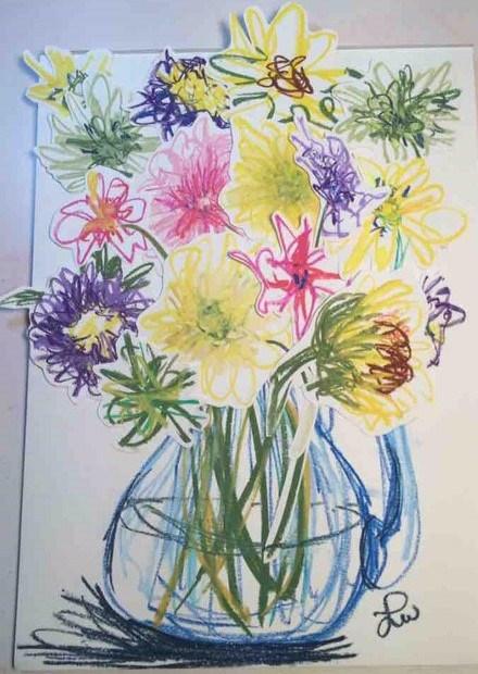 Flowers Drawing Cutouts