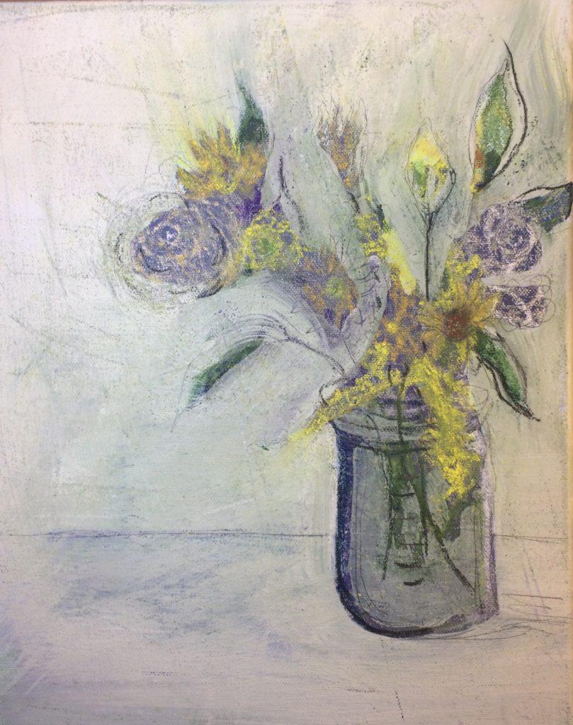 """Blue Bouquet"" | $400+tax | Original Acrylic"