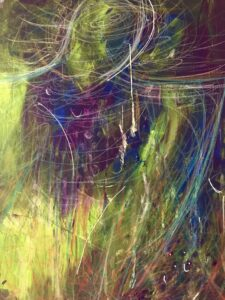 Humanity's Guardian Acrylic Intuitive Painting