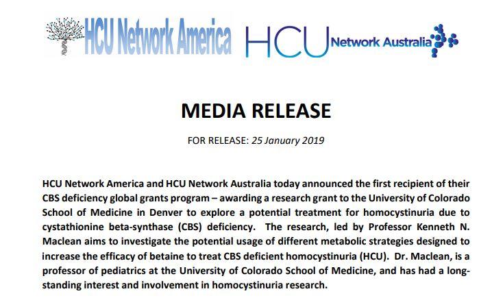 Research Grant Press Release