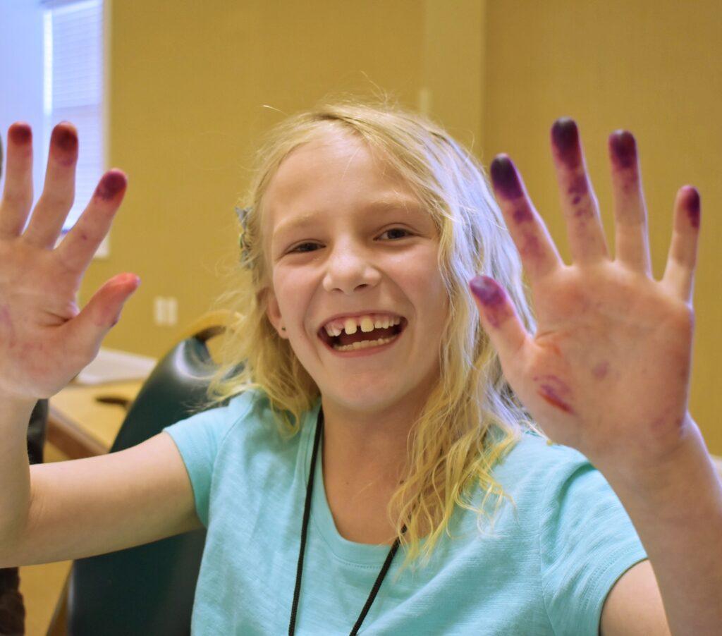 colbies purple hands