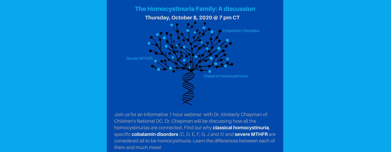 The Homocystinuria Family: Webinar