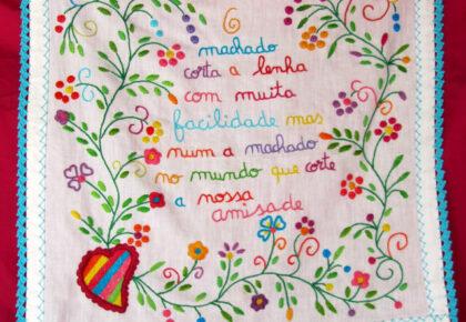 Embroidered handkerchief of friendship