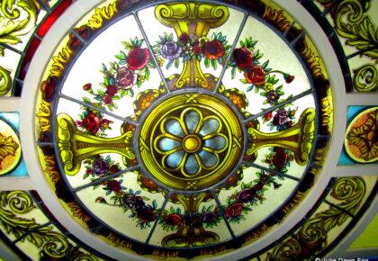 Decorative glass ceiling, Castle Hotel, Porto