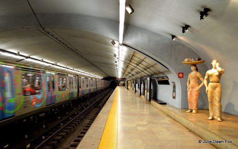 Entrecampos metro station, Lisbon, Portugal