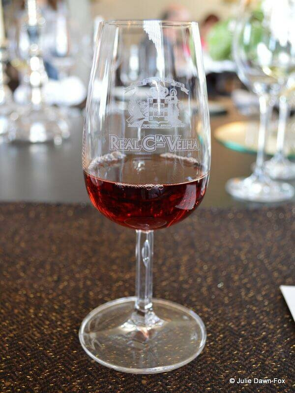 A glass of 20 year tawny port wine