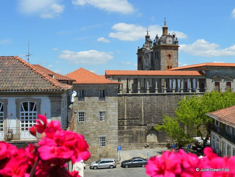 Medieval buildings in Viseu, Portugal