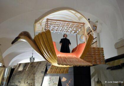 Bartolomeu Gusmão and his flying machine. Lisbon Story Centre