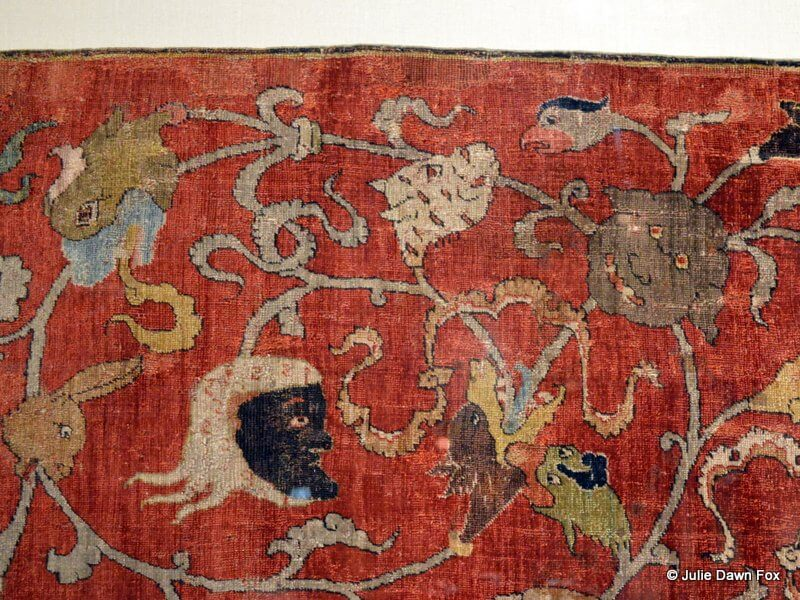 Odd patterns in an ancient rug