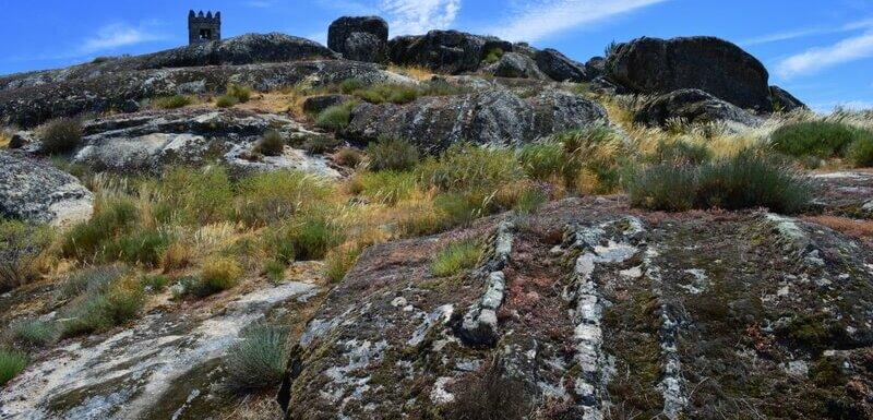 Grooved granite boulders, Sortelha, Portugal