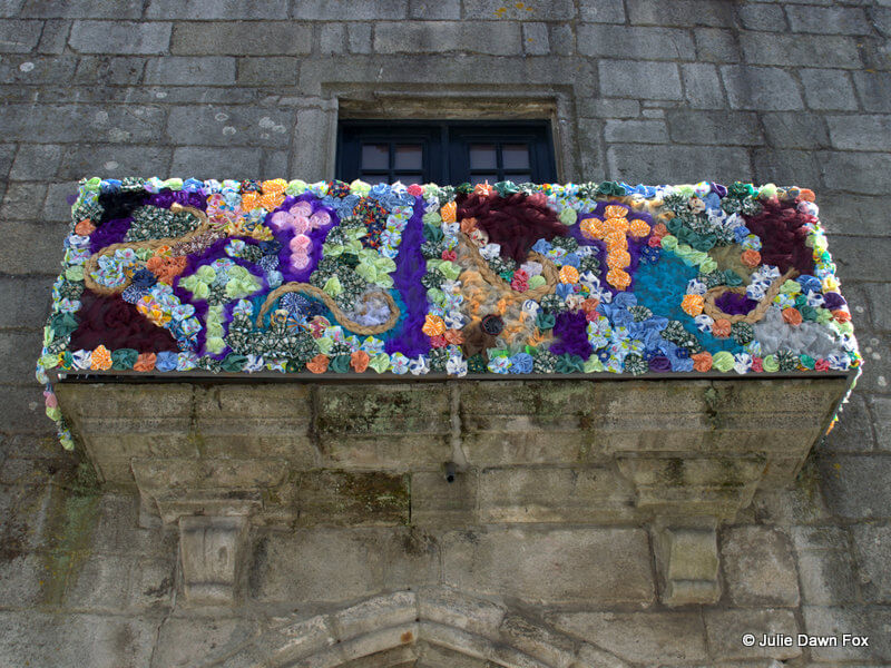 Old City Hall window decorated for Easter, Viana do Castelo