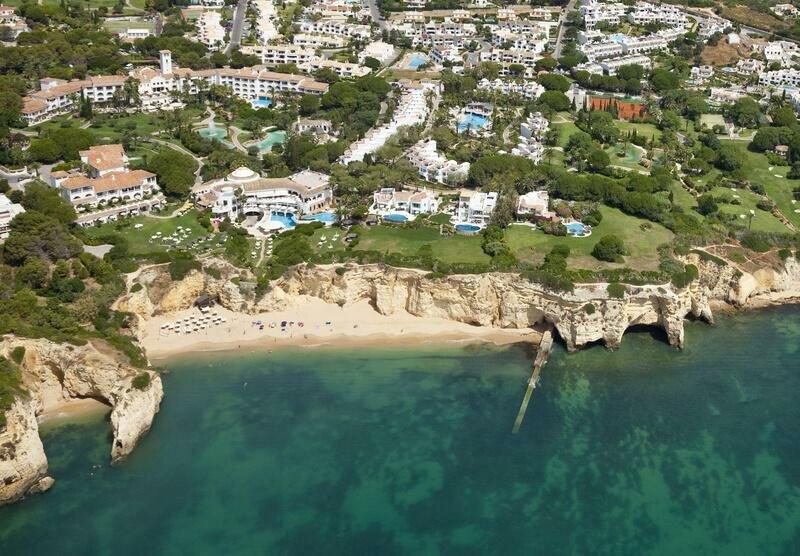 Aerial view of Vila Vita Parc. Where to stay in the Algarve Portugal