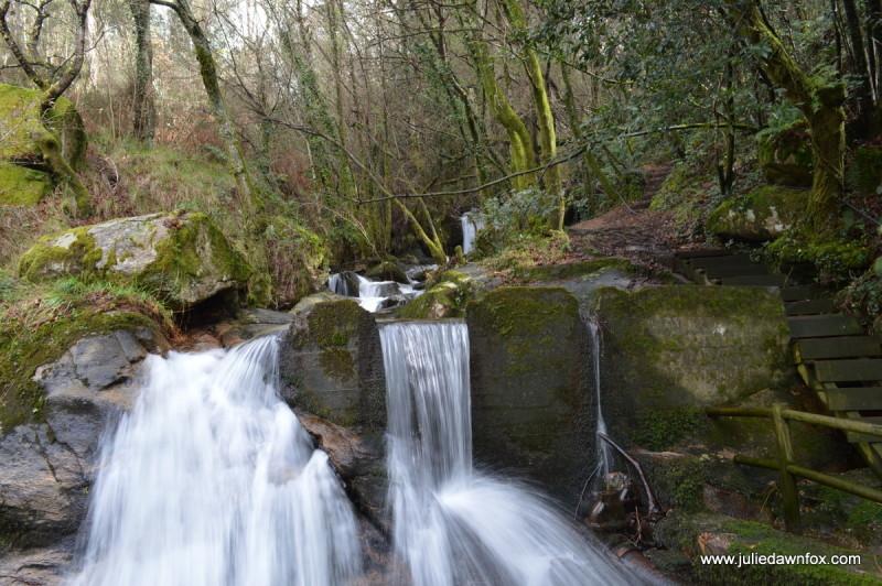 Waterfall on the Coastal Portuguese Way of St. James near Redondela