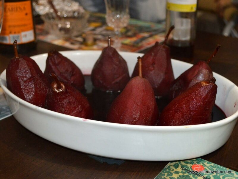 Cooked 'drunk' pears