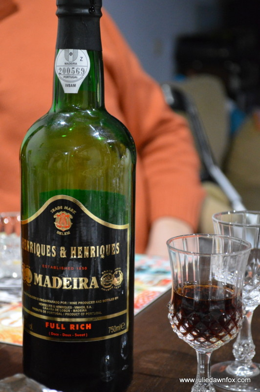 A bottle of Madeira wine