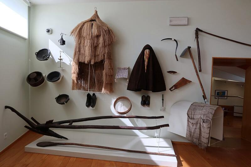 Exhibition of traditional clothes and farming equipment, Ethnographic Museum, Montalegre, Portugal
