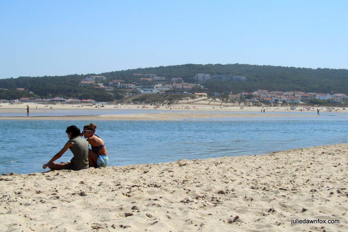 Foz de Arelho beach, Portugal © Julie Dawn Fox