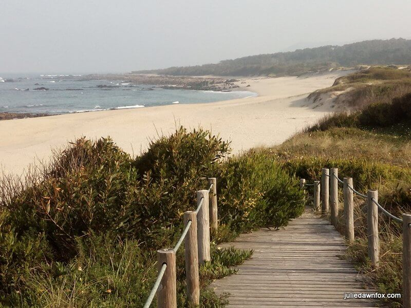 Afife beach. Unspoilt Atlantic coastline, northern Portugal