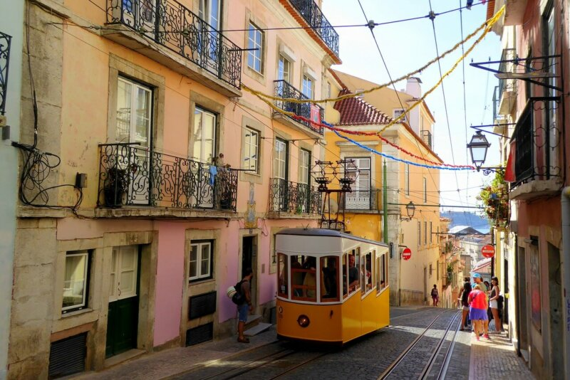 Lisbon and tram