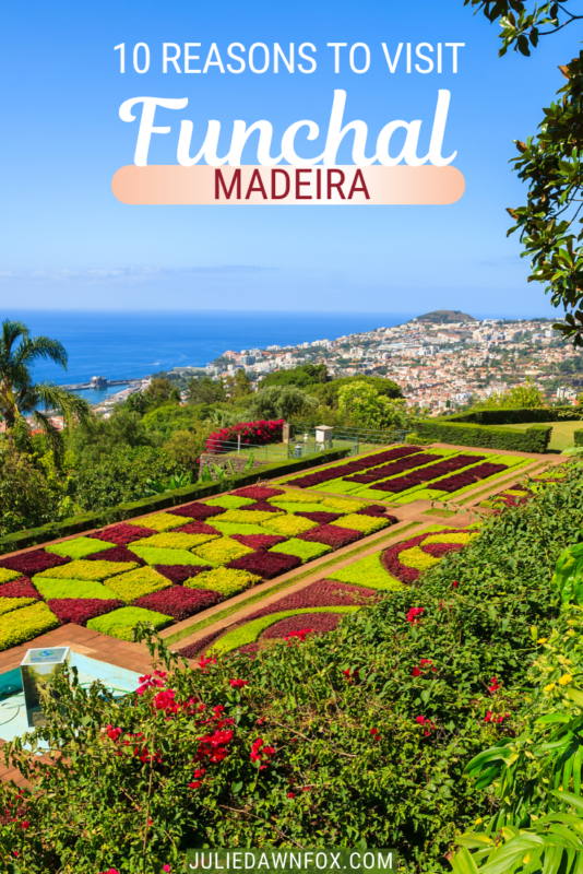 Chequered garden. Funchal, the beautiful capital of Portugal's Madeira island, offers a whole host of attractions to its visitors. Smell glorious flowers and taste luscious fruit in its vibrant market, marvel at the breathtaking views from Monte cable car, take in art-filled, stunning tropical gardens...and there's more. Check out my top 10 reasons why a visit to Funchal is an absolute must!