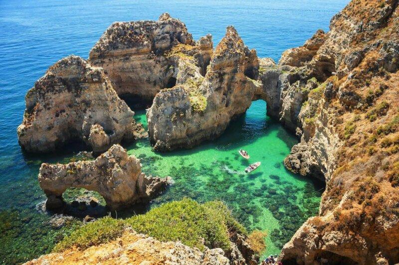 Boat trip Lagos caves, Algarve Portugal