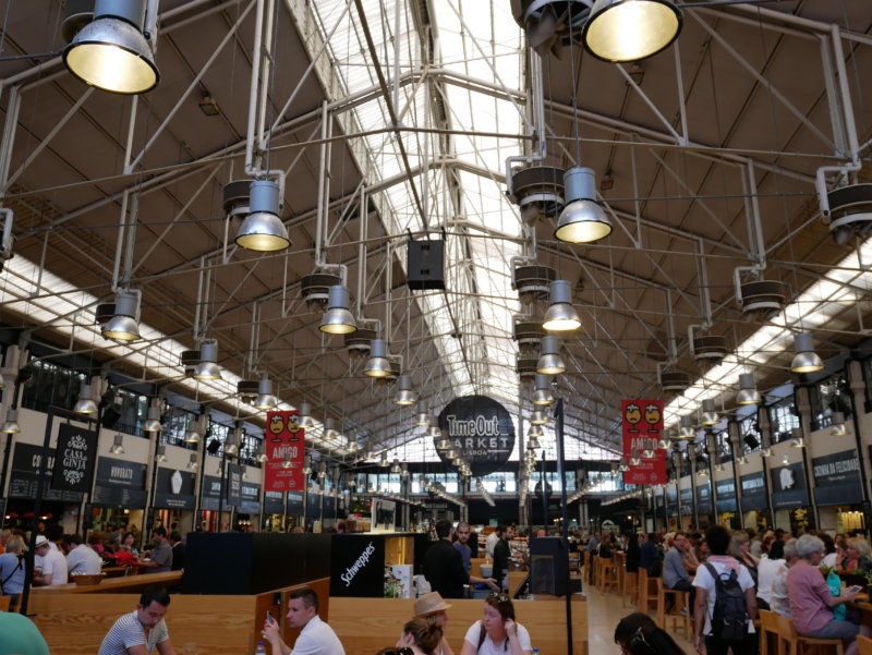 Time Out Market Lisbon food hall. What to do with kids in Portugal