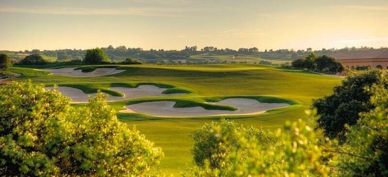 Faldo Amendoeira golf course in the Algarve