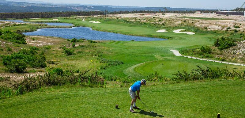 Golfer, Royal Obidos golf course, Silver Coast