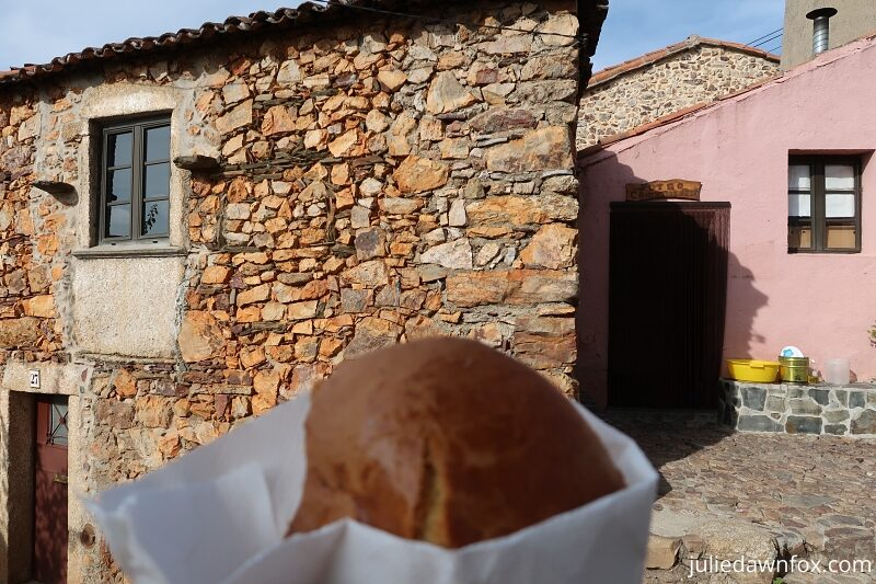 Bread-cake from the community bakery in Penha Garcia