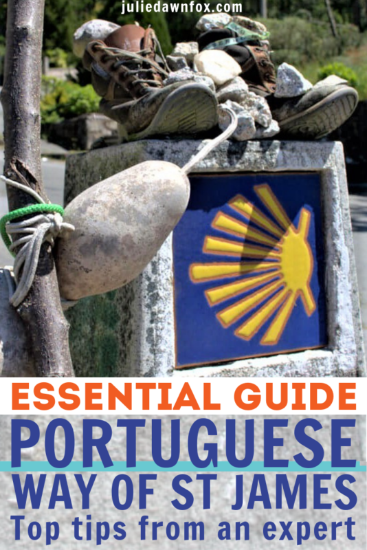 Walking boots and staff. Camino Portugues Coastal And Central Routes from Porto. Essentials