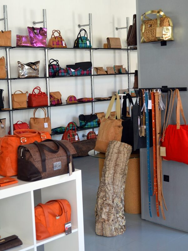 Cork fashion at the Pelcor shop