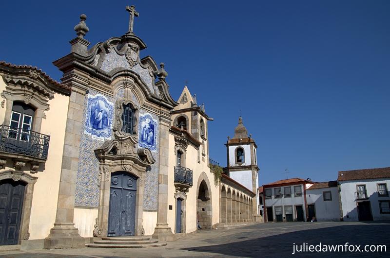 Parish church and main square, São João da Pesqueira