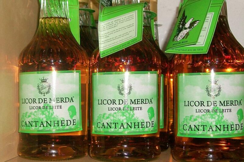 3 bottles of Licor de Merda from Portugal