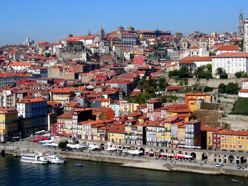 The colourful city of Porto. UNESCO World Heritage site