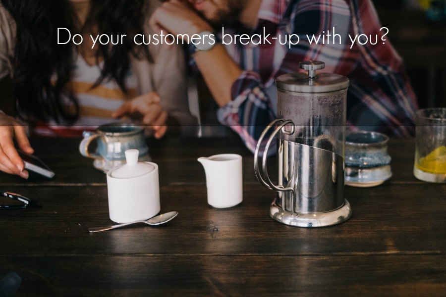 "The reasons why customers ""break up"" with your business"