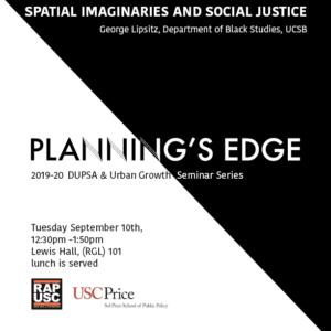 George Lipsitz at Plannings Edge