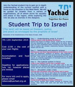 Yachad UK trips