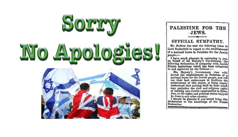 balfour no apologies