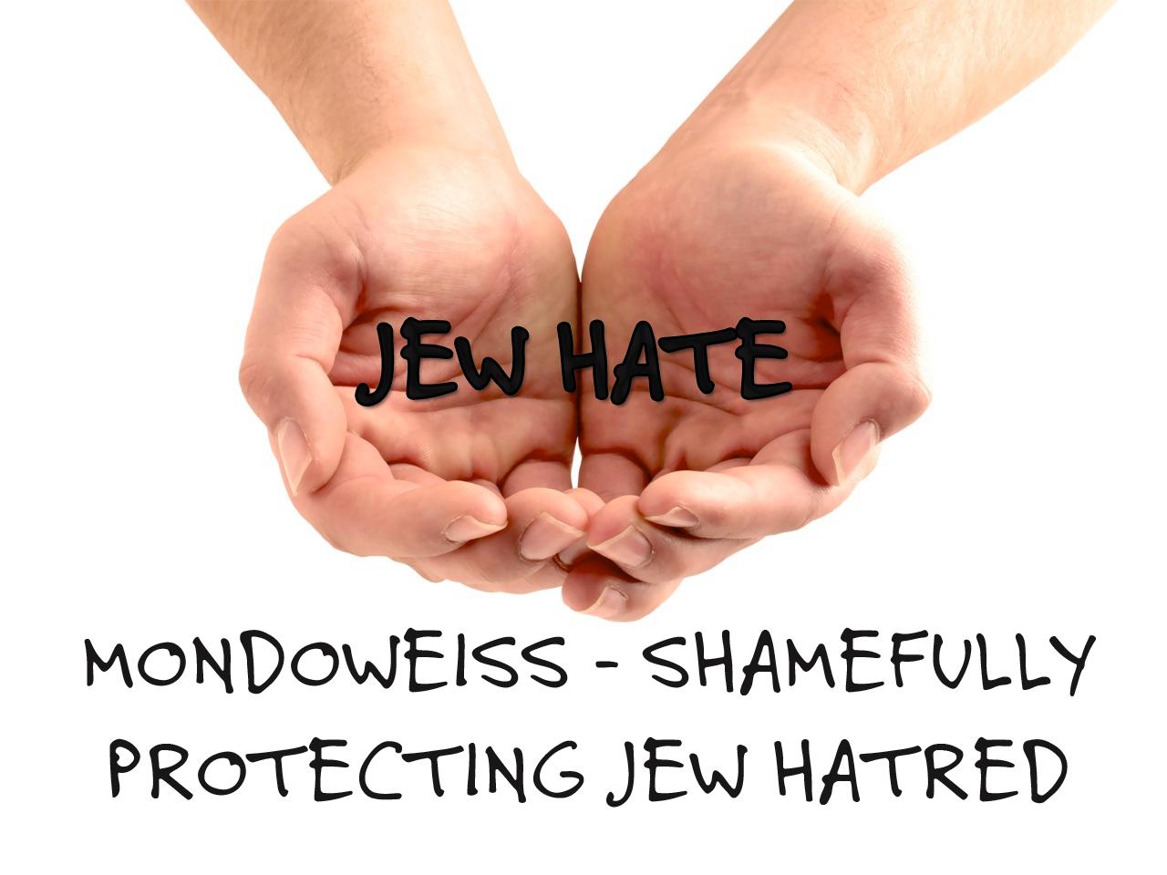 Mondoweiss protecting Jew hate