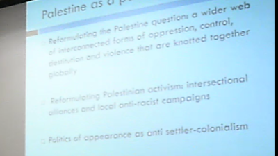 University of Sussex, Palestine as Paradigm