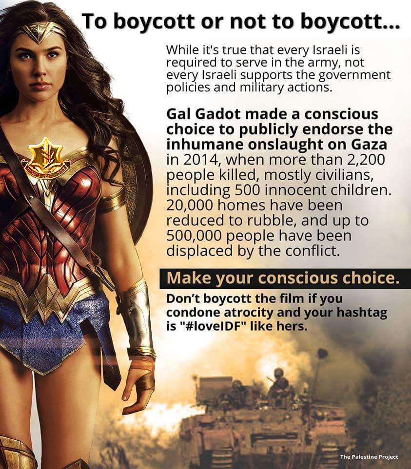 Gal Gadot boycott