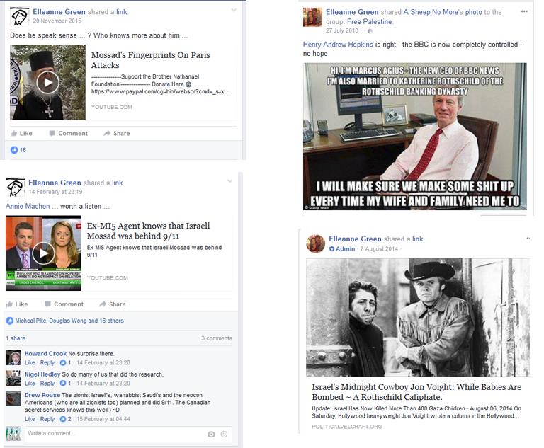 Elleane Green antisemitism