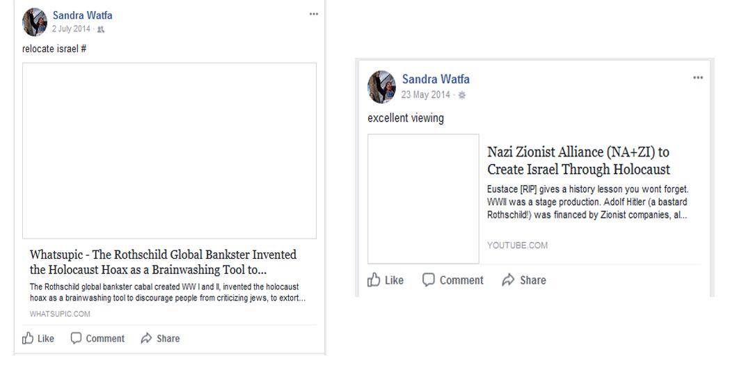 Watfa Holocaust denial
