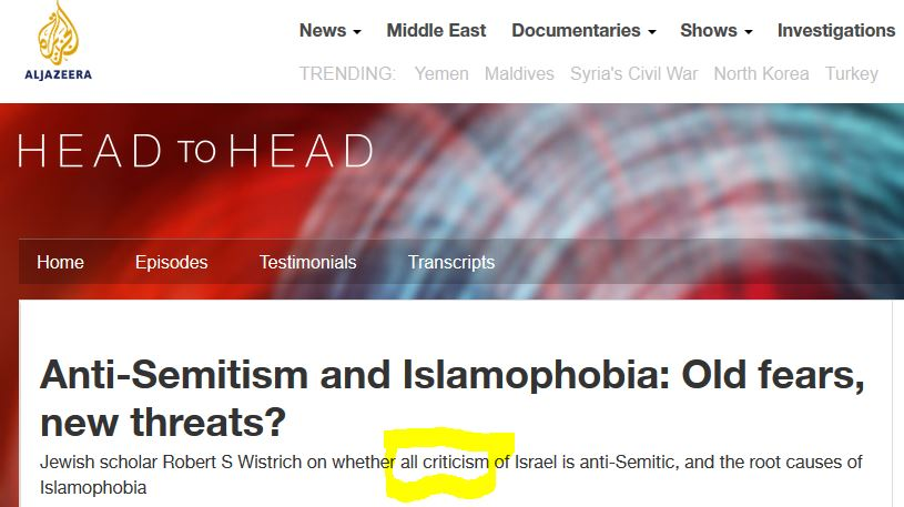 antisemitism to deflect criticism