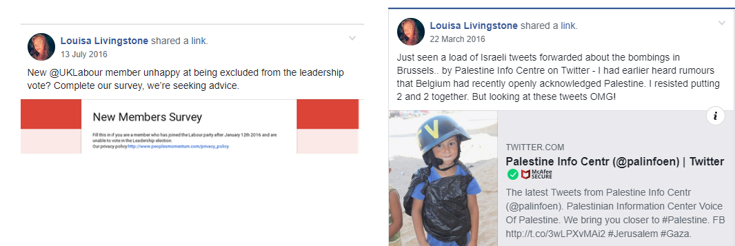 Louisa Livingstone antisemitic